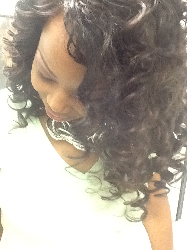 wand curled sew in - African American Curly Hairstyles